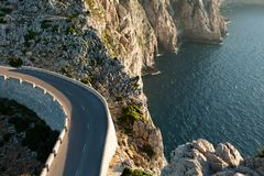 Cap de Formentor at sunset sky nature Landscape in northen Mallorca balearic islands, Spain. Cap de Formentor at sunset sky nature Landscape in northen Mallorca Royalty Free Stock Photos