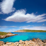 Cap de Fornells cape in Menorca at Balearic islands Stock Photo