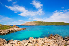 Cap de Fornells cape in Menorca at Balearic islands Stock Photos