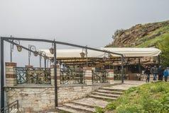 Cap de Kaliakra, longtemps et titre bulgare étroit chez la Mer Noire Image libre de droits