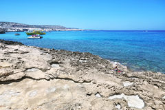 Cap de Kavo Greko en Chypre Photographie stock