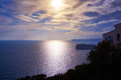 Cap de la Nau Nao cape in Xabia Javea Royalty Free Stock Photography