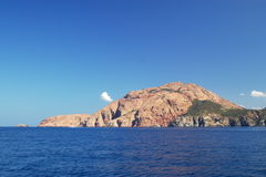 Cap de rouge en Corse Photo stock