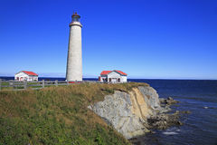 Cap des Rosiers Lighthouse, Gaspesie, Quebec. Canada Royalty Free Stock Images