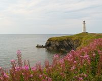 Cap-des-Rosiers lighthouse, Gaspe, Quebec Stock Image