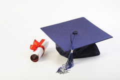 Cap and diploma Royalty Free Stock Image