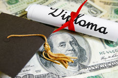 Cap and diploma Royalty Free Stock Photo
