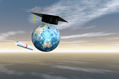 Cap Diploma1 Royalty Free Stock Photos