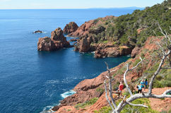 Cap dramont, esterel massif Stock Photos