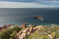 Cap Dramont. Near Port Poussai, France, Azure Coast Royalty Free Stock Photos