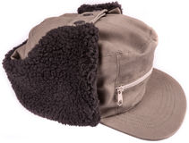 Cap with ear winter protection.  Royalty Free Stock Photography