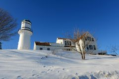Cap Elizabeth Lighthouse, Maine photographie stock libre de droits