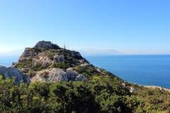 Cap en mer Méditerranée Photo libre de droits