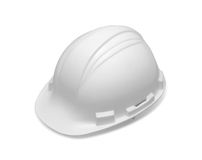 Cap of engineer color white. On white background Royalty Free Stock Image
