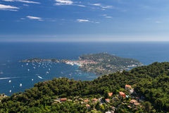 Cap Ferrat as seen from the Grand Corniche Stock Image