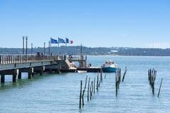 Cap Ferret, Francia, il molo Immagini Stock