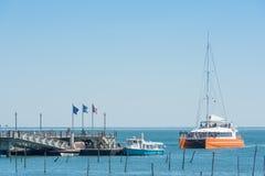 Cap Ferret, Francia, il molo Fotografia Stock Libera da Diritti