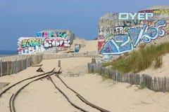 Cap Ferret War Bunkers Stock Photo