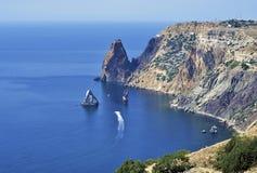 Cap Fiolent, la Mer Noire Photo stock