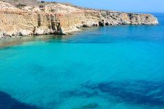 Cap Firiplaka, Melos, Grèce image libre de droits