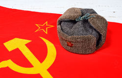 Cap on the flag of the Soviet Union Stock Images
