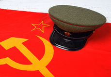 Cap on the flag of the Soviet Union Royalty Free Stock Photos