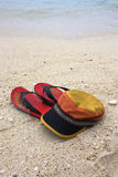 Cap and flip flops Stock Photo
