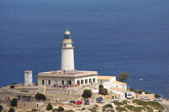 Cap Formentor. Lighthouse at cap formentor at the eastern lands-end of Mallorca/Spain Royalty Free Stock Photo