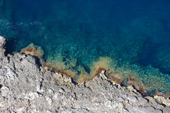 Cap Formentor coastline detail. The beautiful UNESCO world heritage site of cap formentor. One of the most extraordinary places on the island of Mallorca and Royalty Free Stock Image