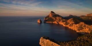Cap Formentor in the late afternoon sun. Mallorca, Baleares, Spain Stock Photos