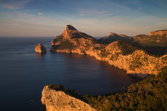 Cap Formentor in the late afternoon sun. Mallorca, Baleares, Spain Royalty Free Stock Photos