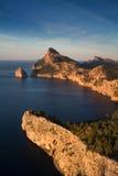 Cap Formentor - Long exposure version. Cap Formentor with colomer rock - Long exposure version, Mallorca, Baleares, Spain Stock Images