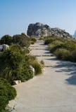 Cap Formentor on Mallorca island. Footpath at Cap Formentor on Mallorca island Royalty Free Stock Photos