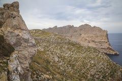 Cap Formentor Mallorca. Landscape at Cap Formentor Mallorca Royalty Free Stock Photos