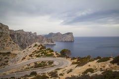 Cap Formentor Mallorca. Landscape at Cap Formentor Mallorca Stock Photos