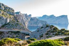 Cap Formentor Mallorca, Spain. Winding roads Stock Image
