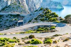 Cap Formentor Mallorca, Spain. Winding roads Royalty Free Stock Photo