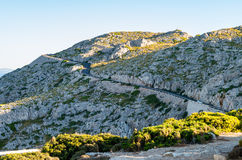 Cap Formentor Mallorca, Spain. Winding roads Royalty Free Stock Images