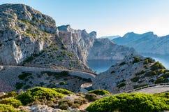 Cap Formentor Mallorca, Spain. Winding roads Royalty Free Stock Photos