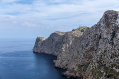 Cap Formentor. View of Cap Formentor in Pollenca, Majorca Balearic Islands, Spain Royalty Free Stock Image