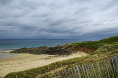 Cap Frehel (Brittany, France): the beach Royalty Free Stock Photos