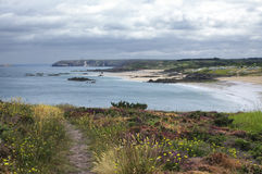 Cap Frehel (Brittany, France): the beach Stock Photography