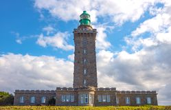 Landscapes and architectures of Brittany. Cap Frehel, France, view of the new lighthouse Stock Image