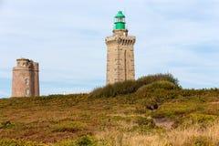 Cap Frehel lighthouse Stock Images