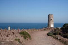 Cap Frehel Lighthouse Royalty Free Stock Photo