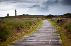 Cap Frehel with Lighthouse Royalty Free Stock Images