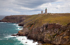 Cap Frehel with Lighthouse Royalty Free Stock Photography