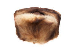 Cap from fur of a muskrat Royalty Free Stock Image