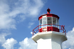 Cap gaspe lighthouse in Gaspesie, Quebec Royalty Free Stock Images