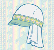 Cap with geometric pattern Royalty Free Stock Photo